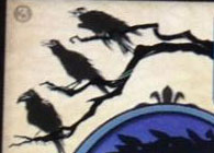 three crows on the card