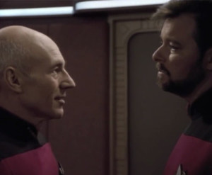 Picard and Riker talk