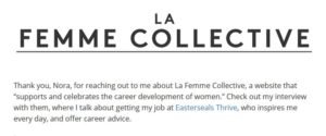 La Femme Collective logo in black text